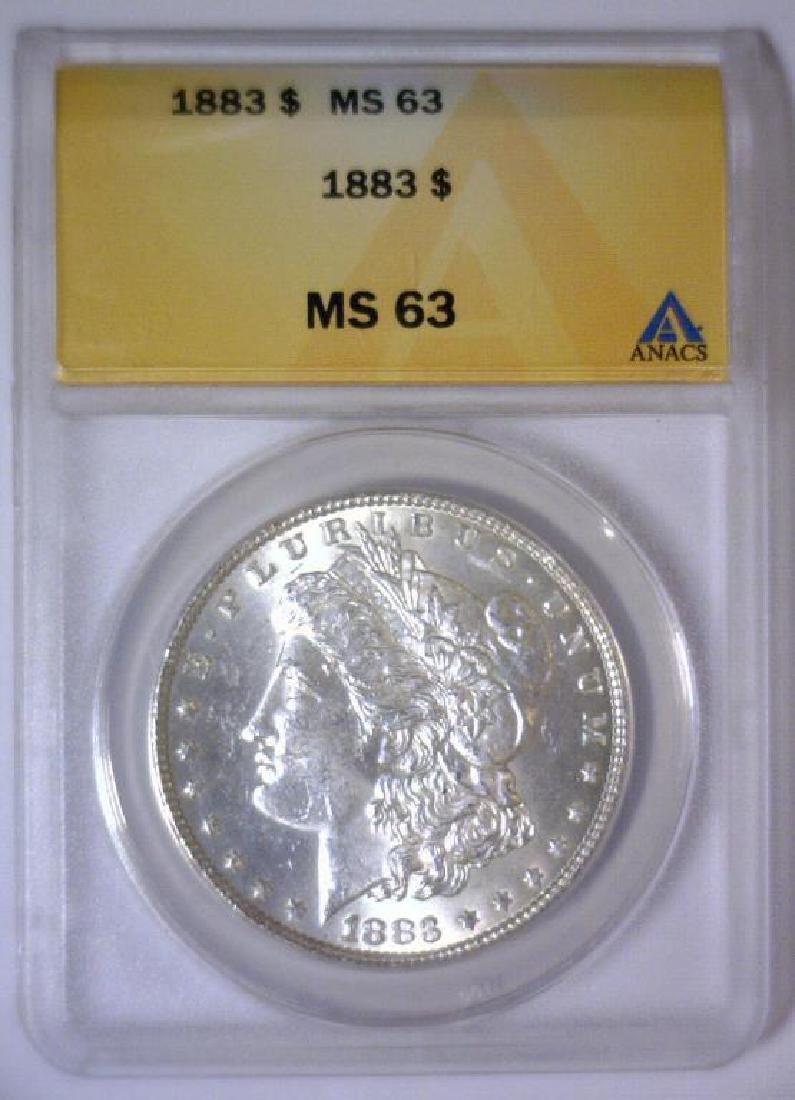 1883 Morgan Silver Dollar ANACS MS63 - 2