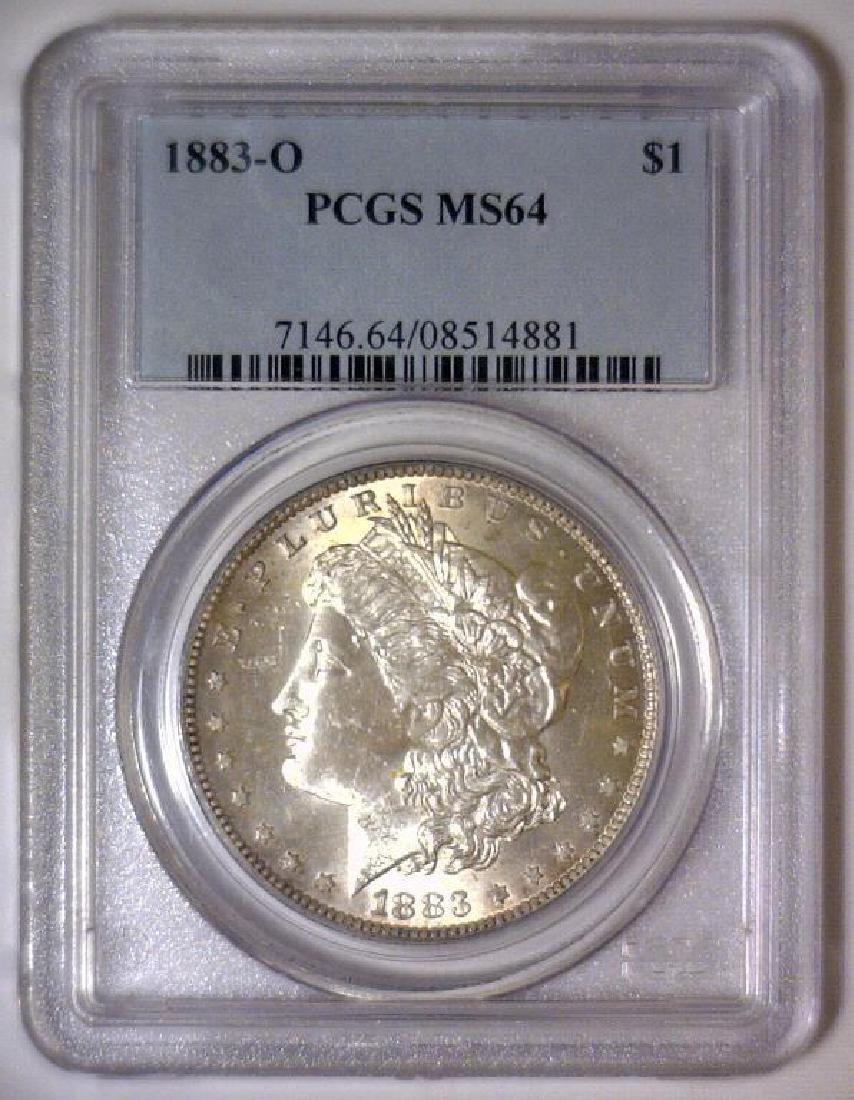 1883-O Morgan Silver Dollar PCGS MS64 - 2