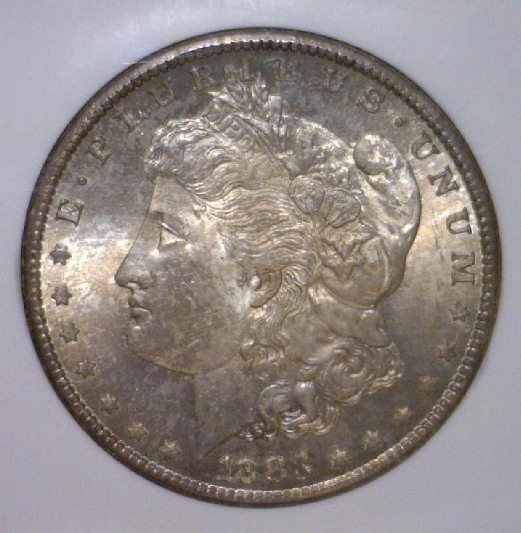 1883-CC Morgan Silver Dollar Color Toned NGC MS64