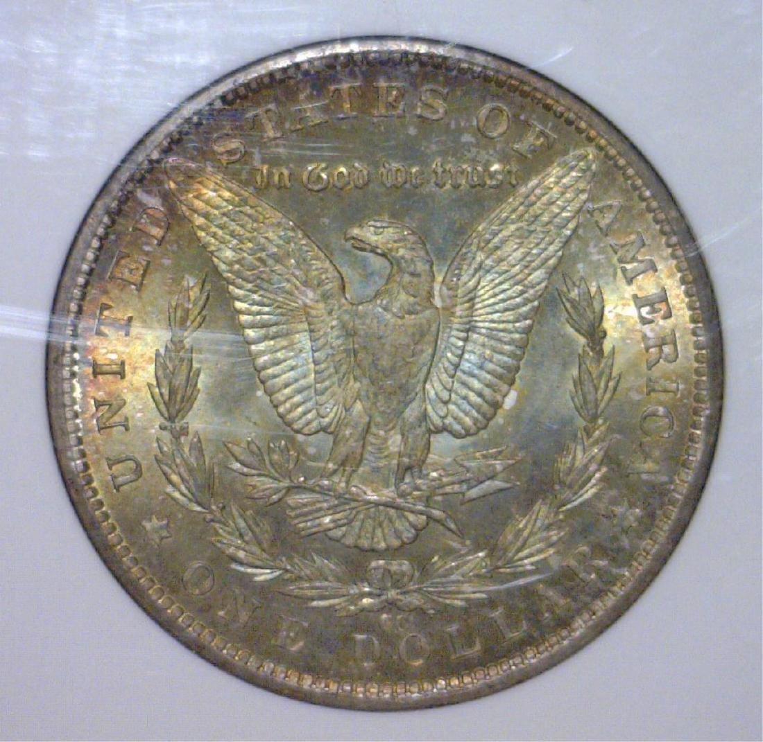 1883-CC Morgan Silver Dollar Color Toned NGC MS64 - 3