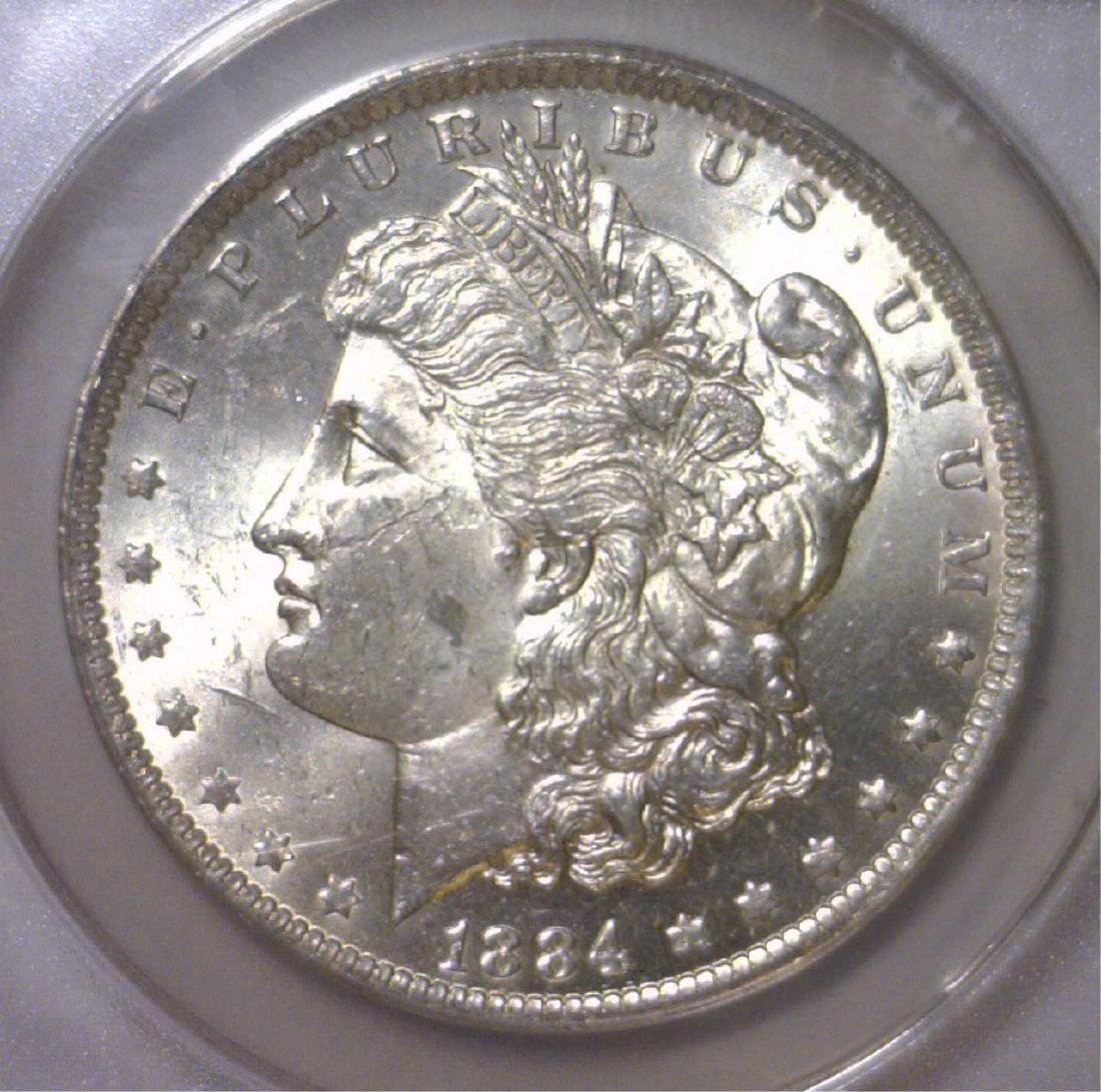 1884-O Morgan Silver Dollar ANACS MS62