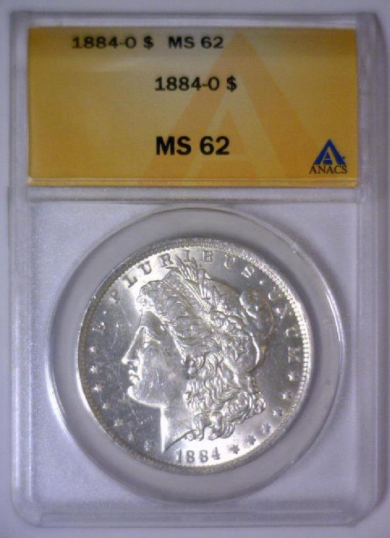 1884-O Morgan Silver Dollar ANACS MS62 - 2