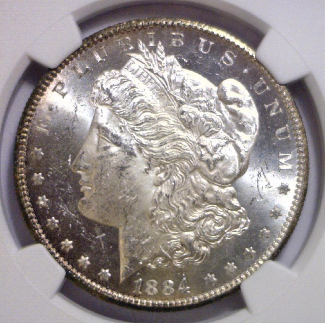1884-CC Morgan Silver Dollar NGC MS62