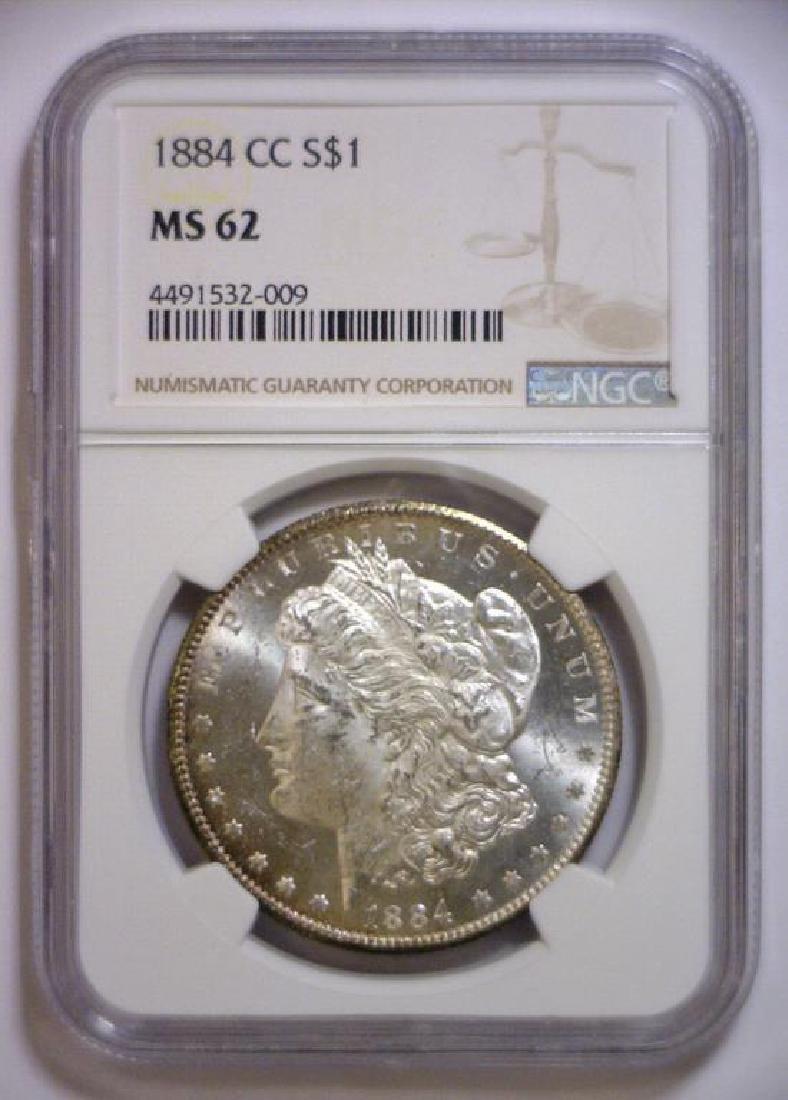 1884-CC Morgan Silver Dollar NGC MS62 - 2