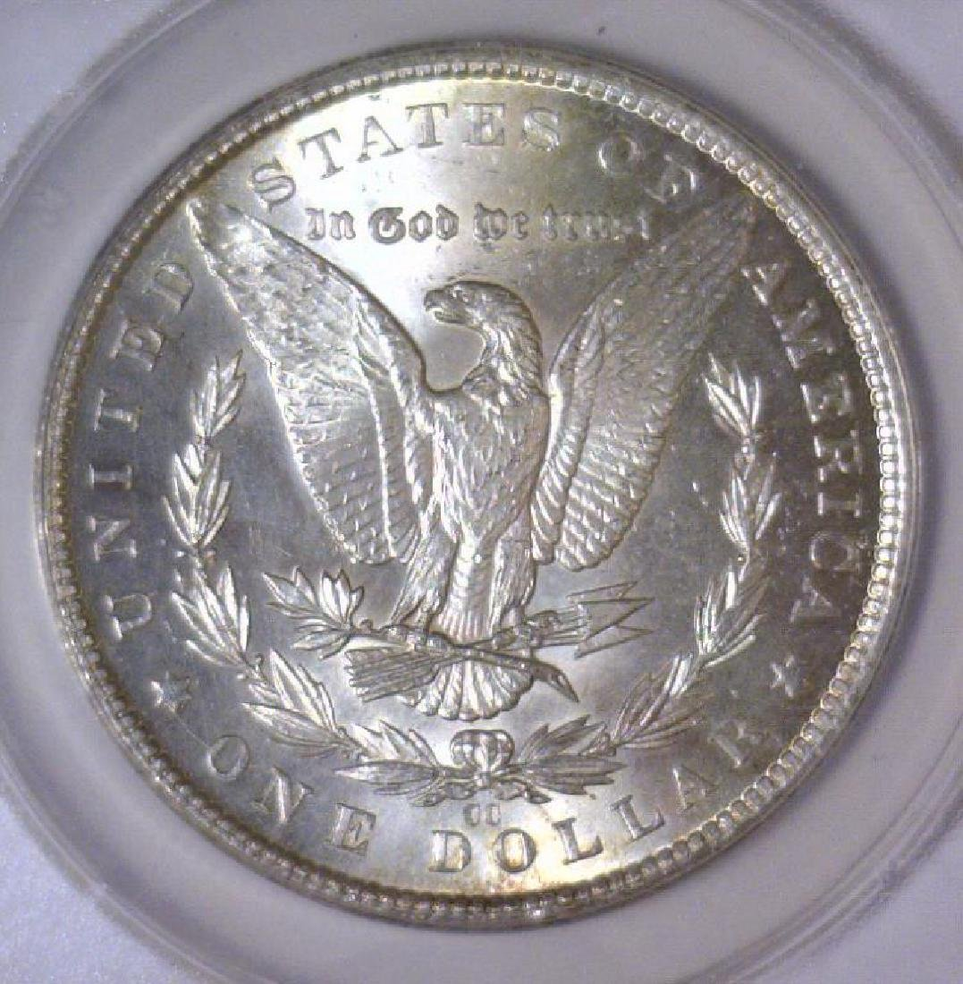 1884-CC Morgan Silver Dollar ANACS MS63 - 3