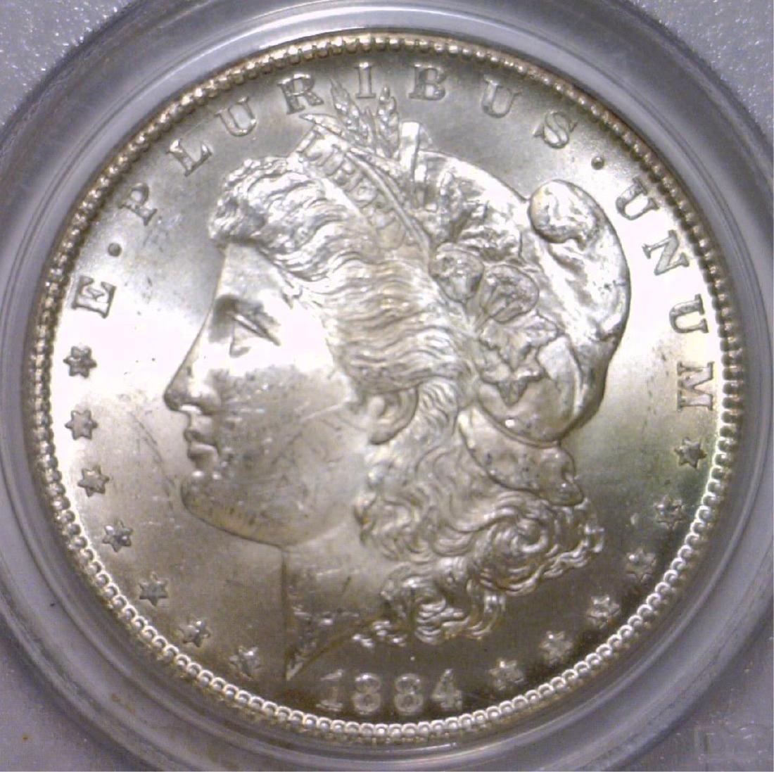 1884-CC Morgan Silver Dollar PCGS MS64