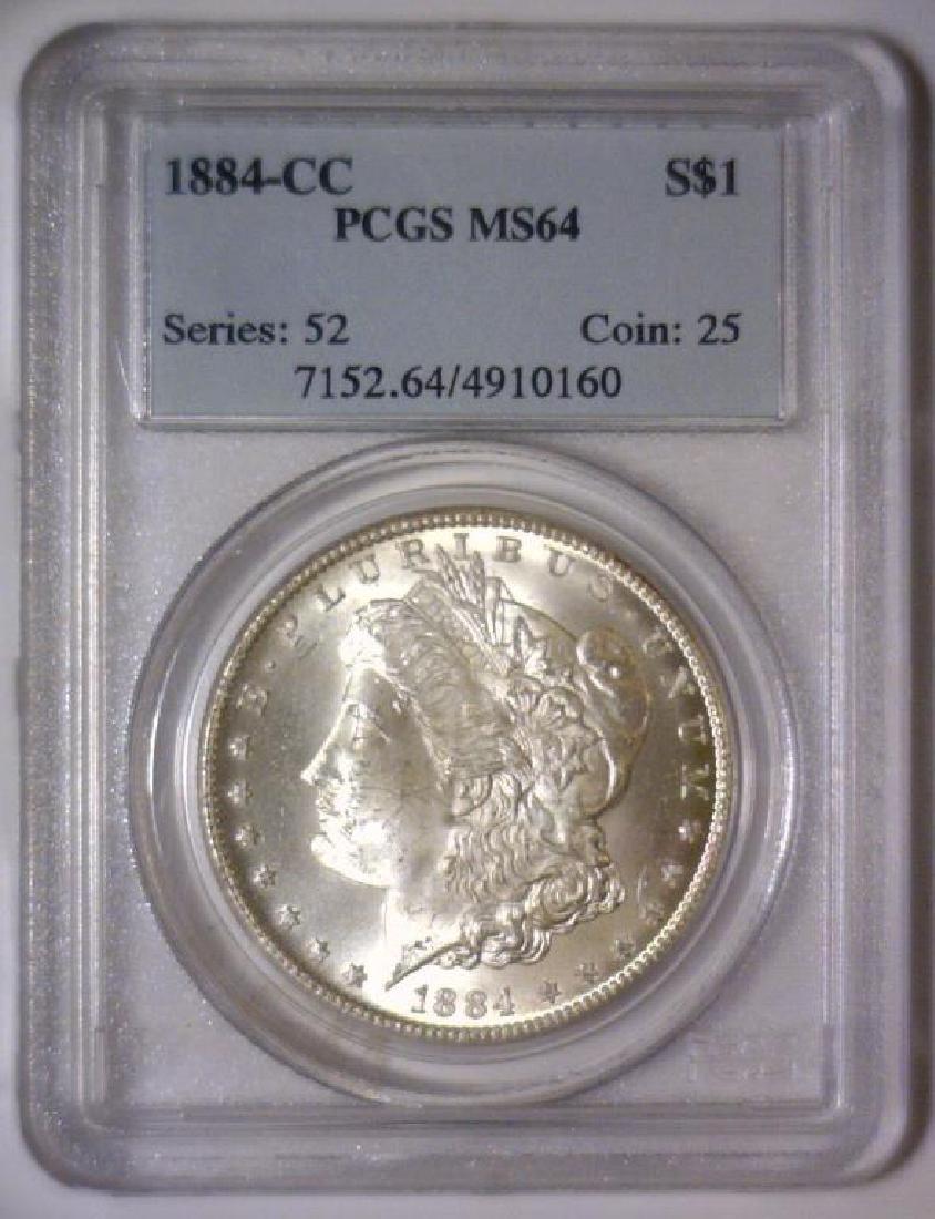 1884-CC Morgan Silver Dollar PCGS MS64 - 2