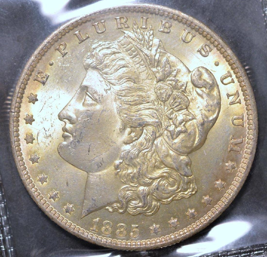 1885-O Morgan Silver Dollar BU