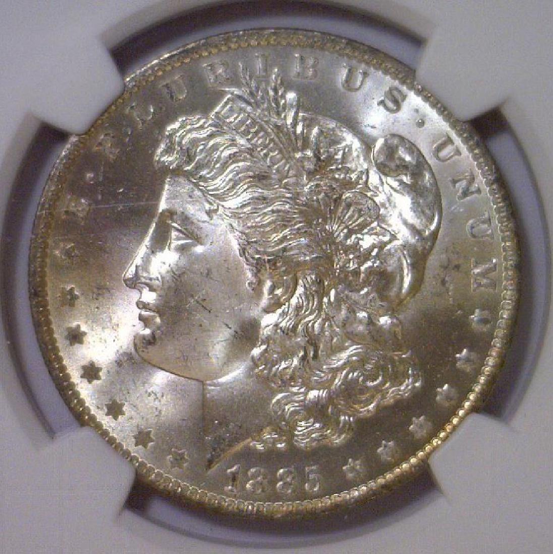 1885-O Morgan Silver Dollar NGC MS65