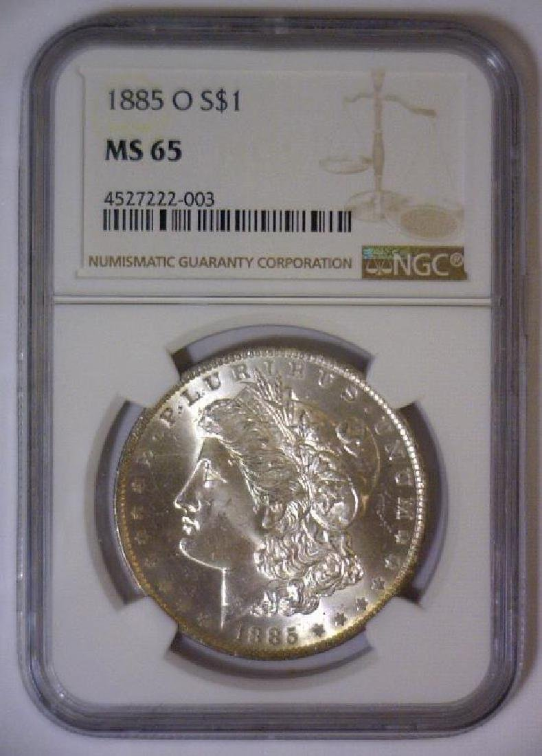 1885-O Morgan Silver Dollar NGC MS65 - 2