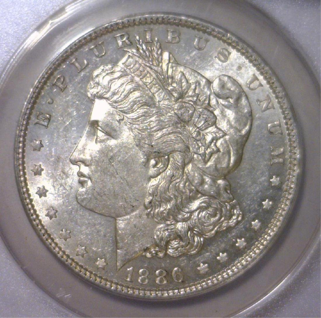 1886 Morgan Silver Dollar ANACS AU55