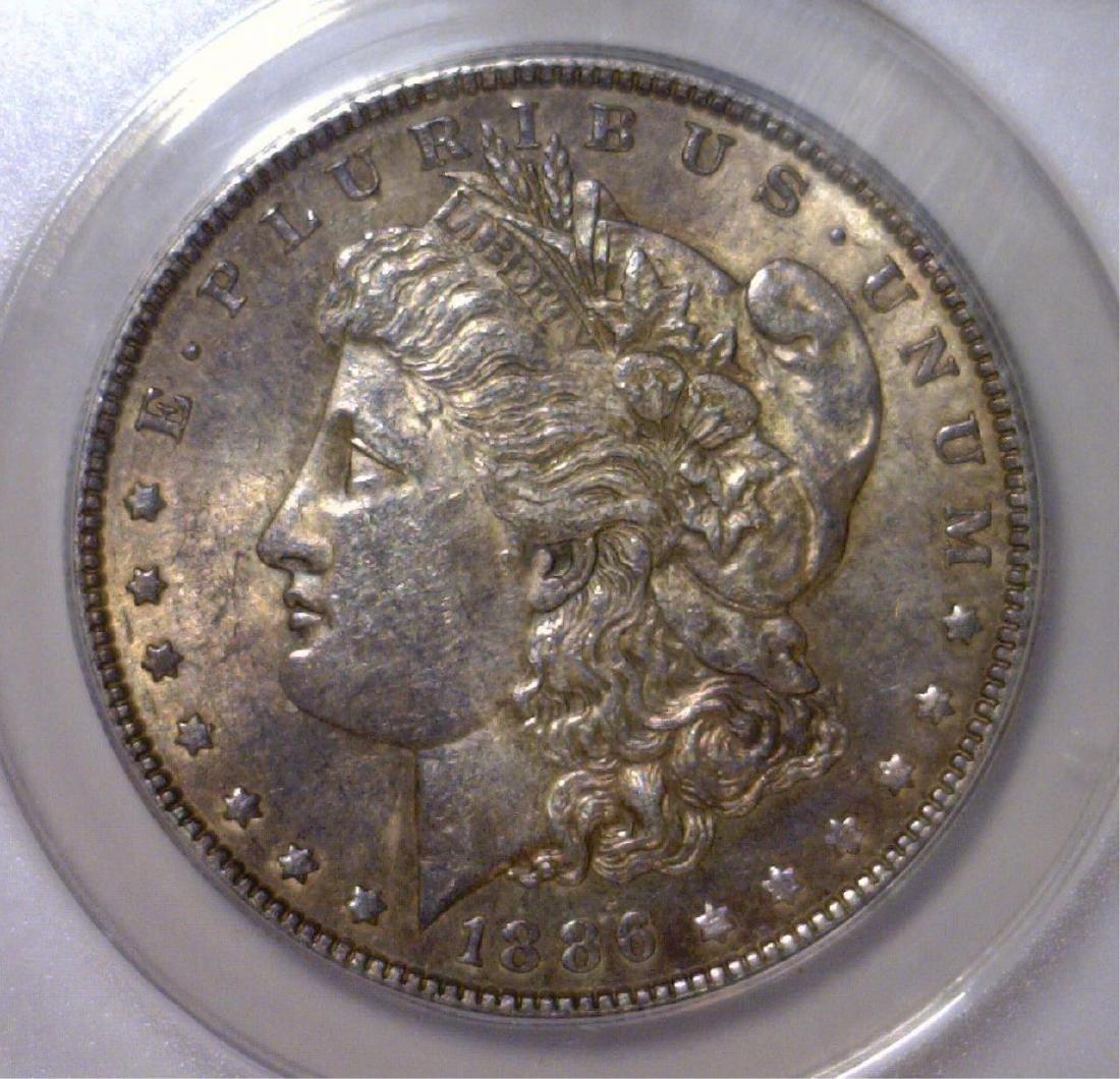 1886 Morgan Silver Dollar ANACS AU58