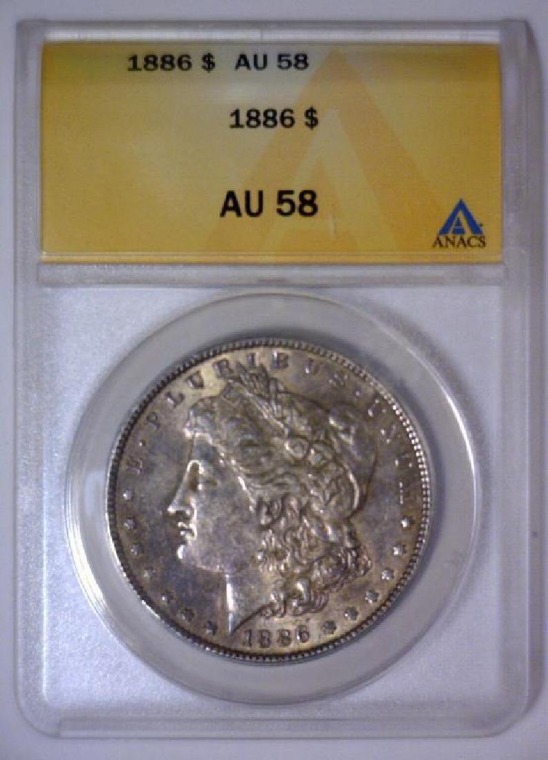 1886 Morgan Silver Dollar ANACS AU58 - 2