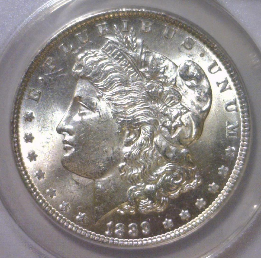1889 Morgan Silver Dollar ANACS MS63