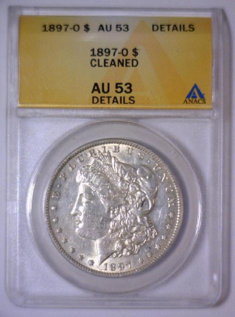 1897-O Morgan Silver Dollar ANACS AU53 Details - 2