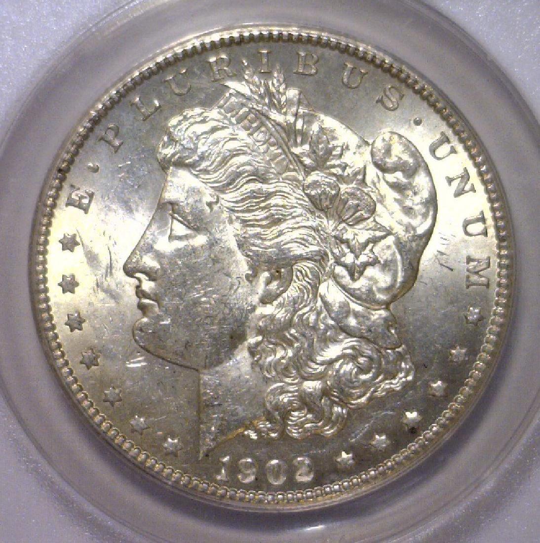 1902-O Morgan Silver Dollar ANACS MS62