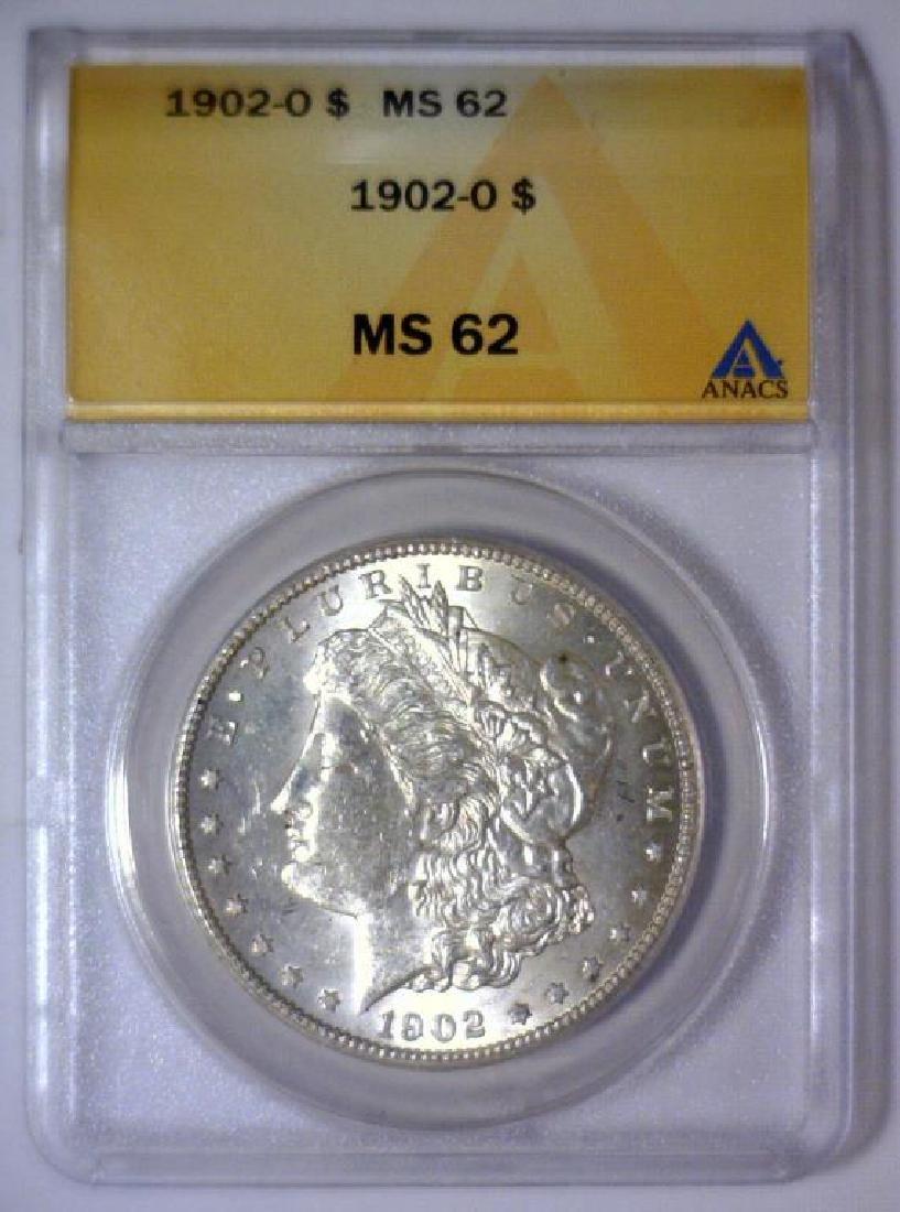 1902-O Morgan Silver Dollar ANACS MS62 - 2