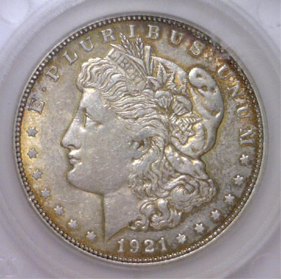 1921-D Morgan Silver Dollar EF Extra Fine XF Color