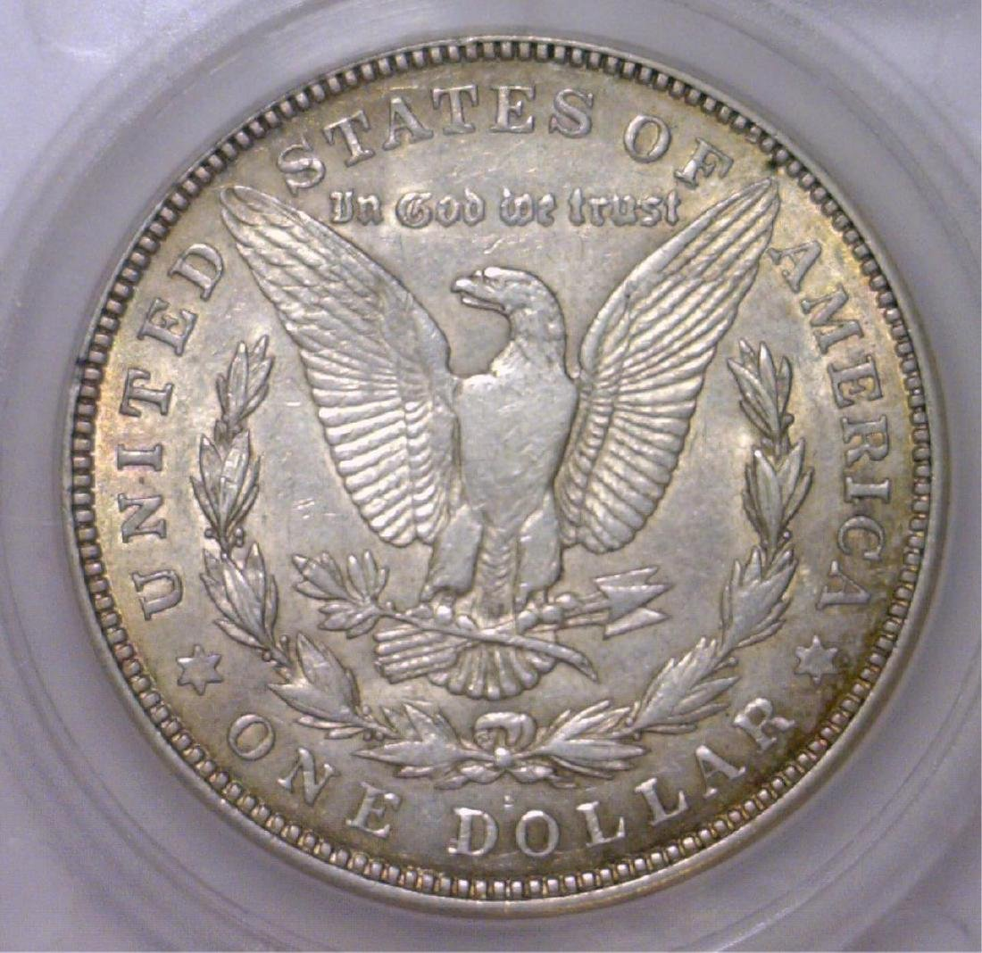 1921-D Morgan Silver Dollar EF Extra Fine XF Color - 2