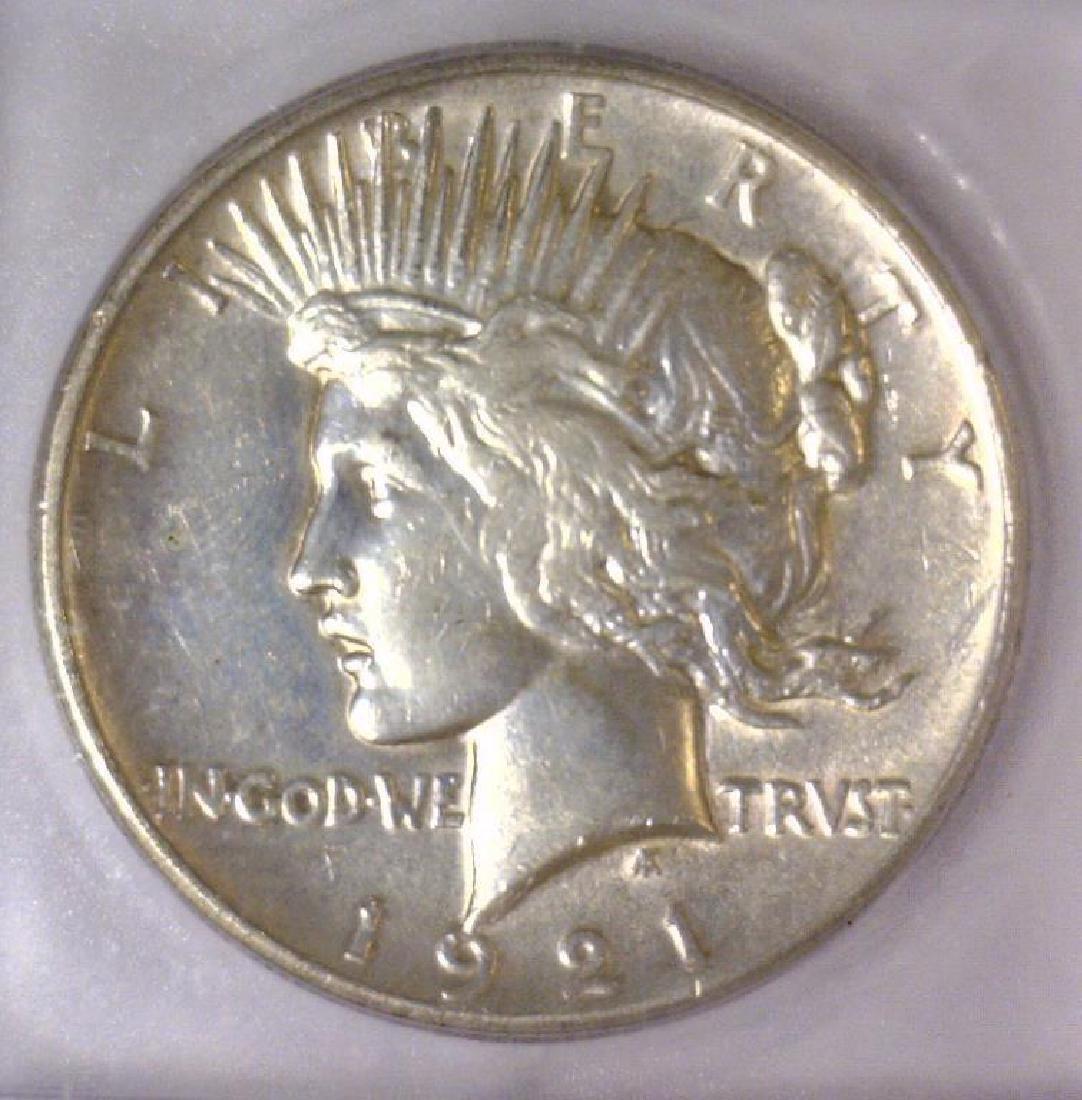 1921 Peace Silver Dollar Extra Fine ICG EF40