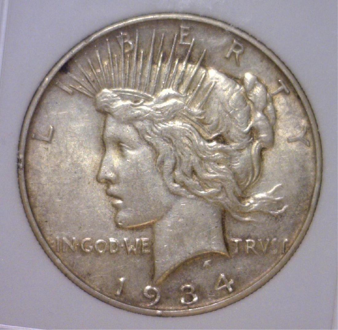 1934-D Peace Silver Dollar EF Extra Fine XF
