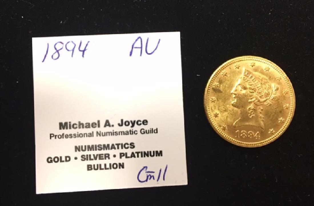 1894 AU $10 Gold Liberty Eagle