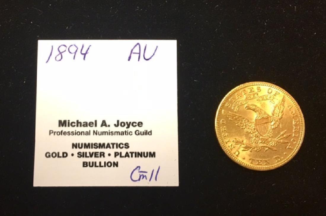 1894 AU $10 Gold Liberty Eagle - 2