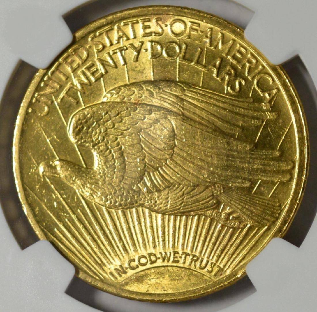 1922 $20 Saint Gaudens Gold Double Eagle NGC MS 62 - 3