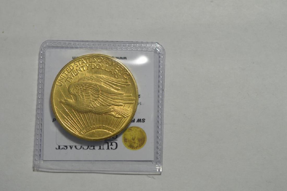 1924 $20 Saint Gaudens Gold Double Eagle AU - 2