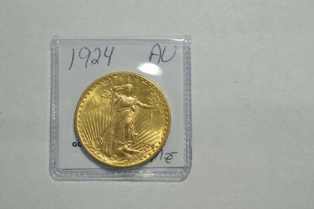 1924 $20 Saint Gaudens Double Eagle AU