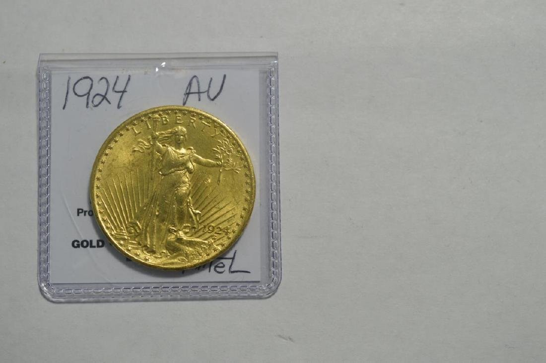 1924 $20 Saint Gaudens Gold Double Eagle AU