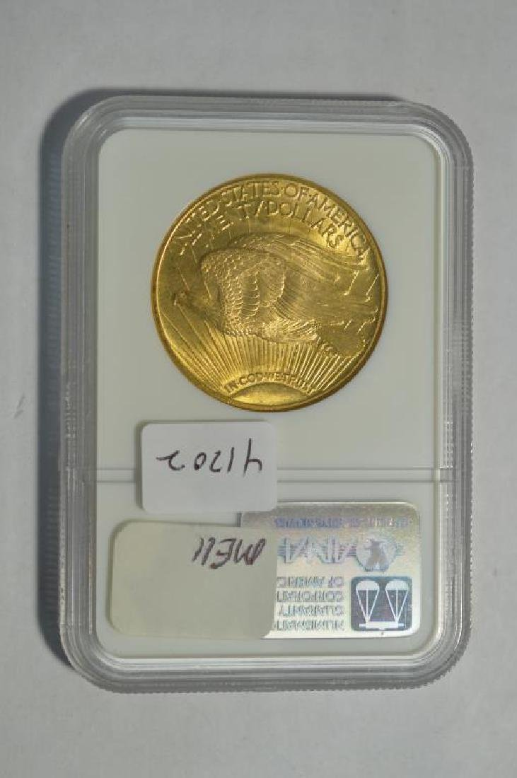 1924 $20 Saint Gaudens Gold Double Eagle NGC MS 62 - 2