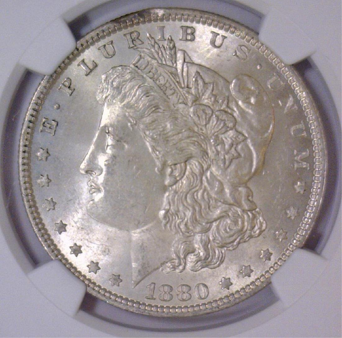 1880 Morgan Silver Dollar NGC MS62