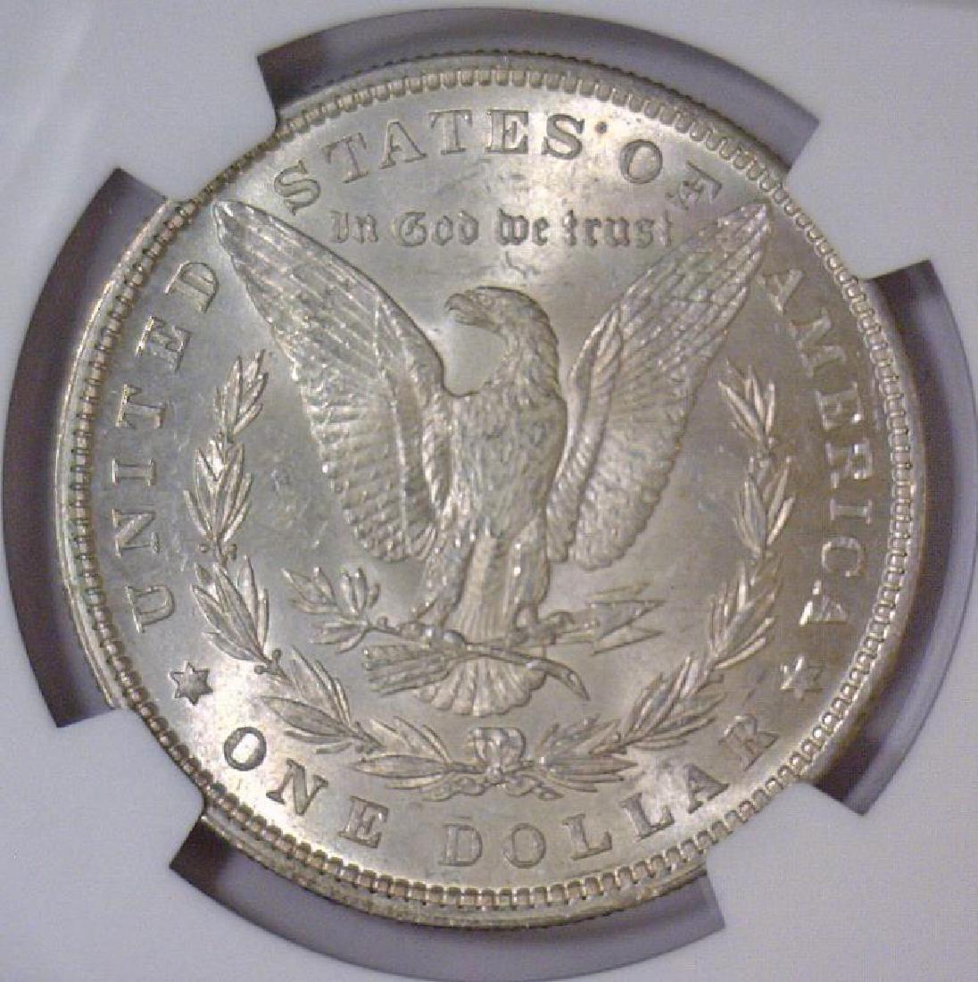 1880 Morgan Silver Dollar NGC MS62 - 3