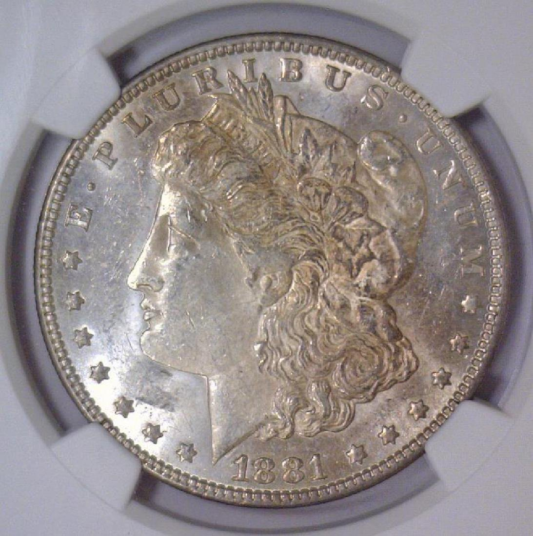 1881 Morgan Silver Dollar NGC MS62