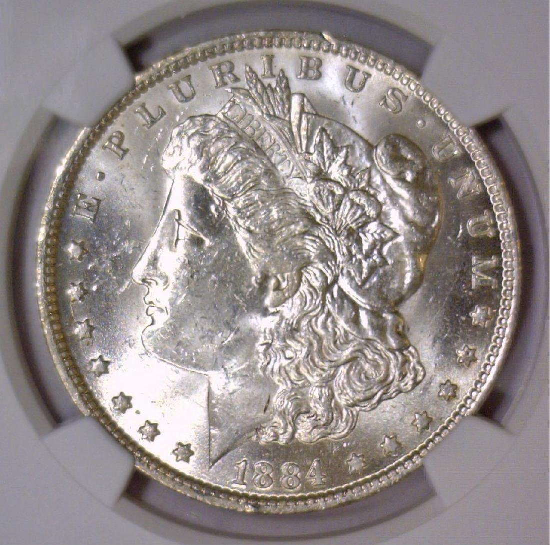 1884-O Morgan Silver Dollar NGC MS62
