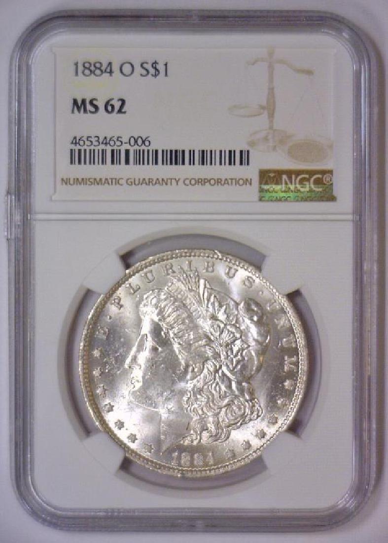 1884-O Morgan Silver Dollar NGC MS62 - 2