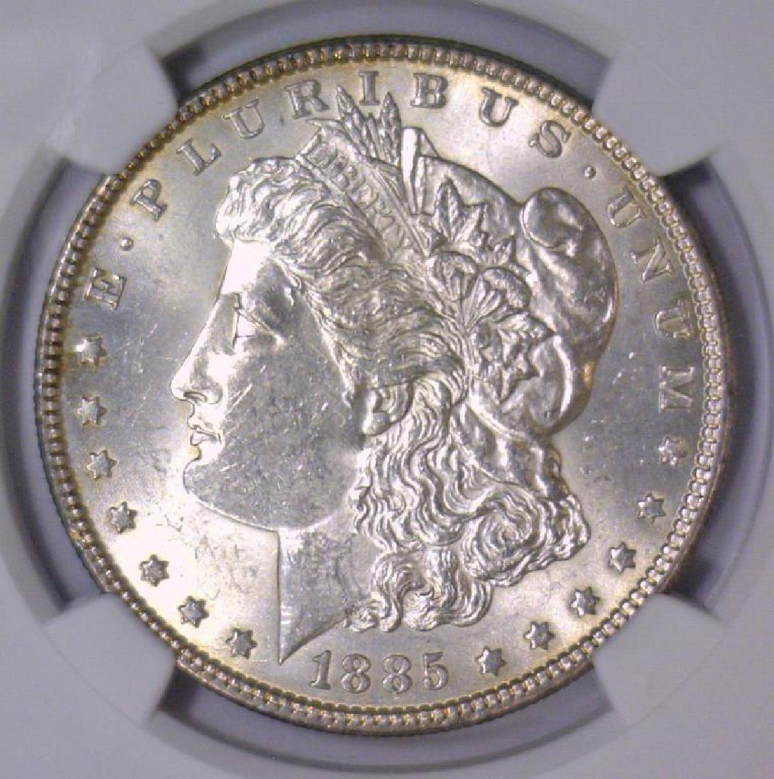 1885 Morgan Silver Dollar NGC MS62
