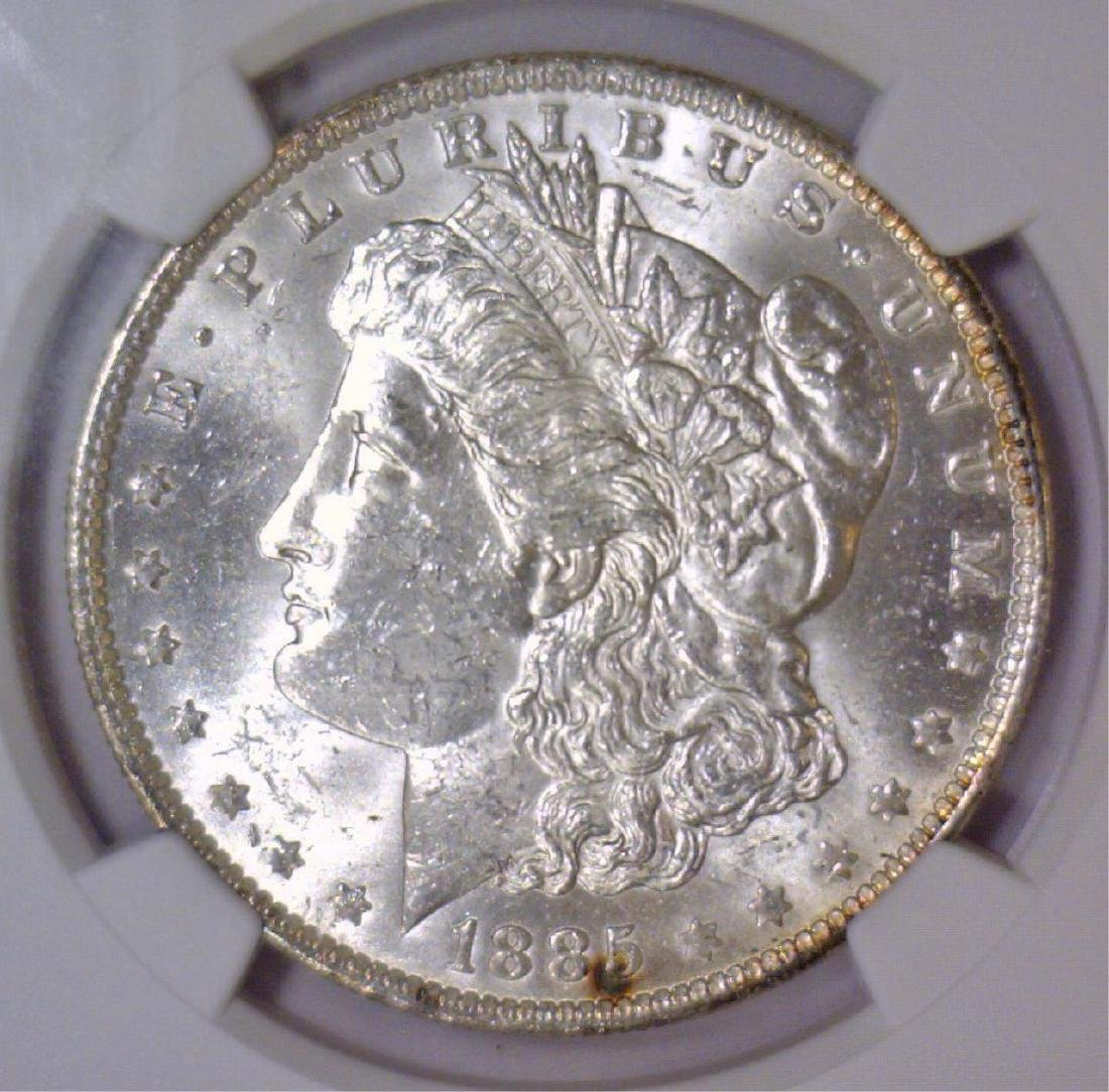 1885-O Morgan Silver Dollar NGC MS62