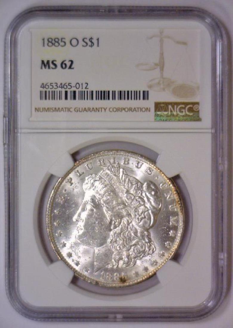1885-O Morgan Silver Dollar NGC MS62 - 2