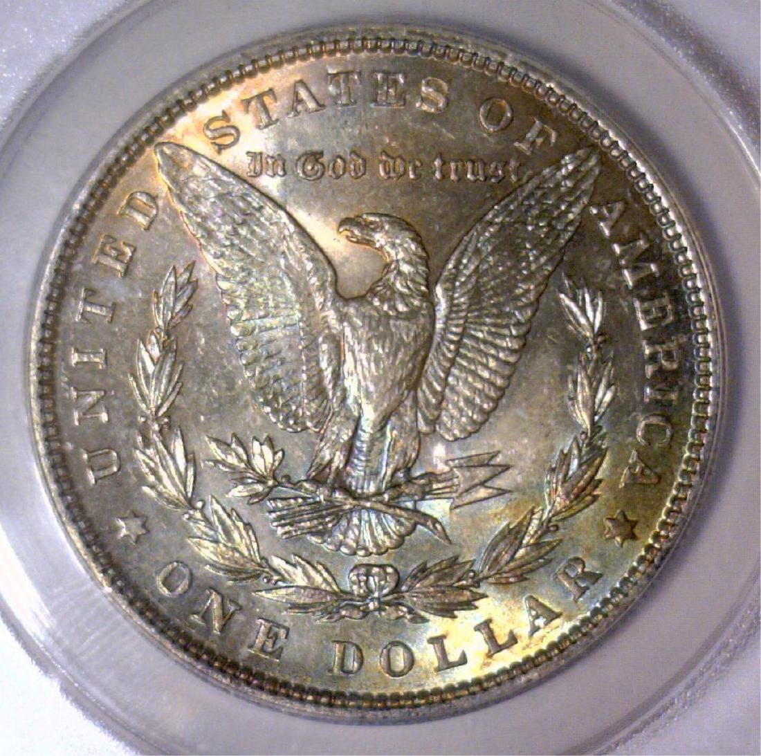 1886 Morgan Silver $1 Rainbow Reverse ANACS MS62