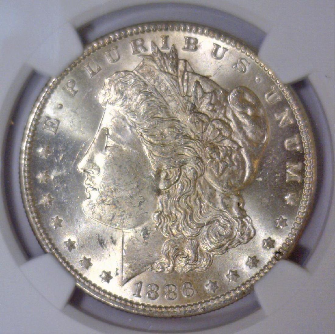 1886 Morgan Silver Dollar NGC MS62