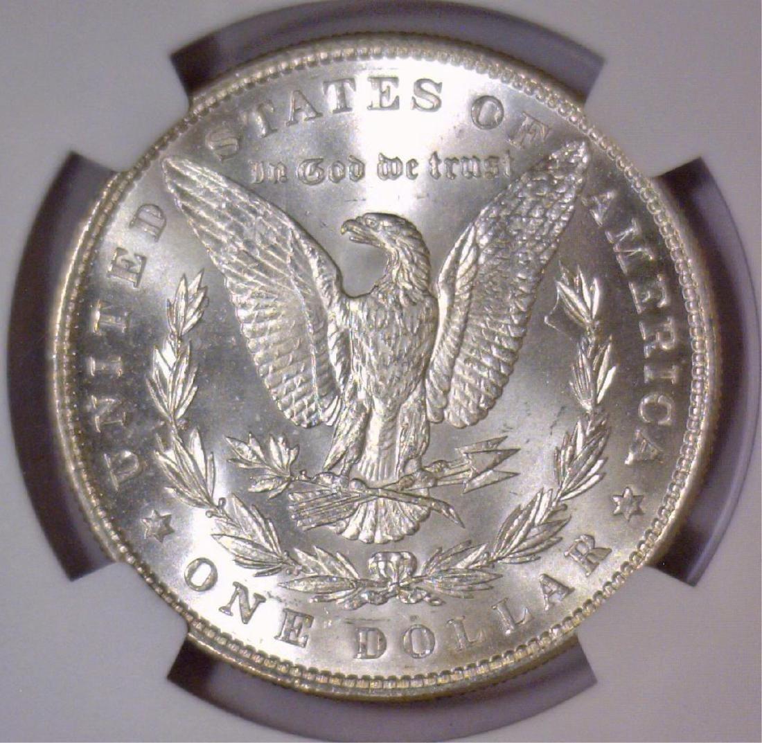 1886 Morgan Silver Dollar NGC MS62 - 3