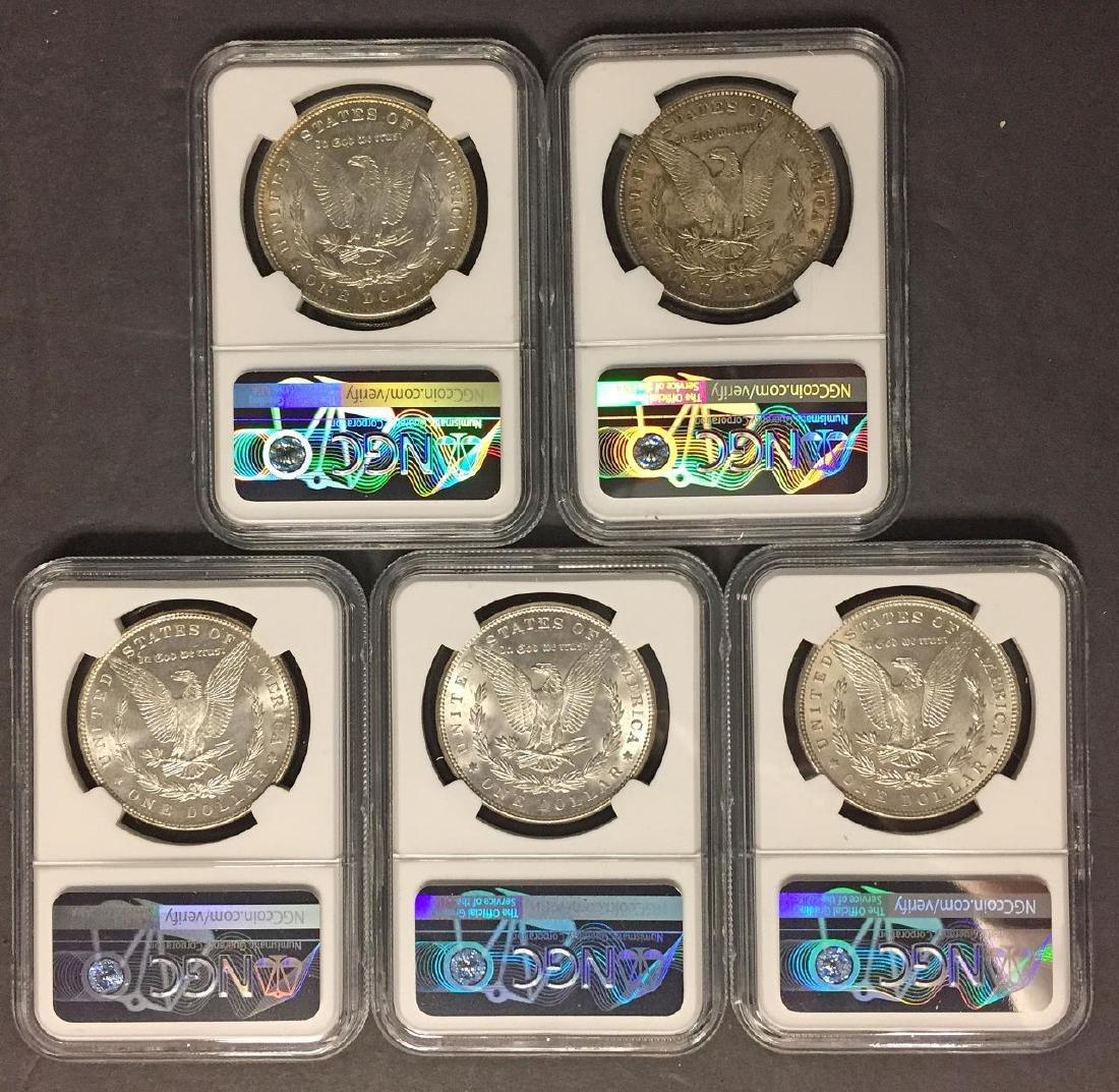 Investor Lot of 5 1886 Morgan Silver $1 NGC MS62 - 2