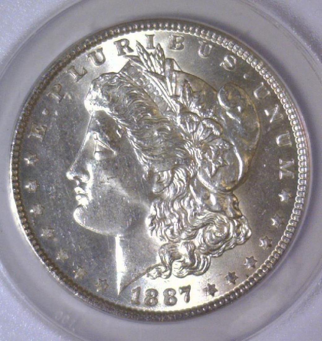1887 Morgan Silver Dollar ANACS MS63