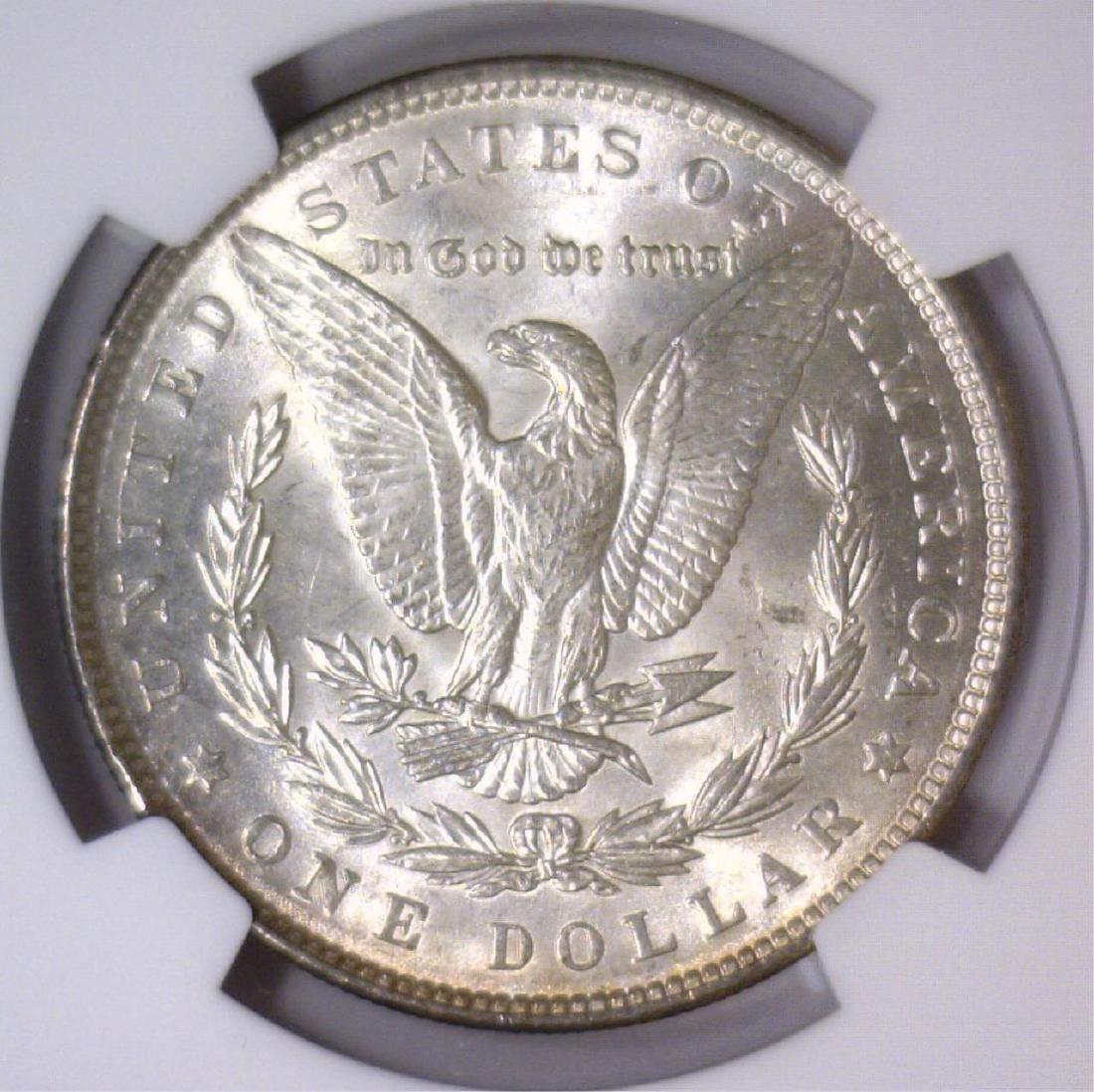 1890 Morgan Silver Dollar NGC MS63 - 3
