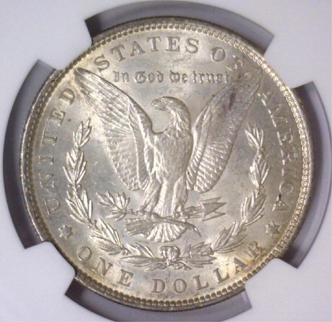 1890 Morgan Silver Dollar NGC MS63 - 3