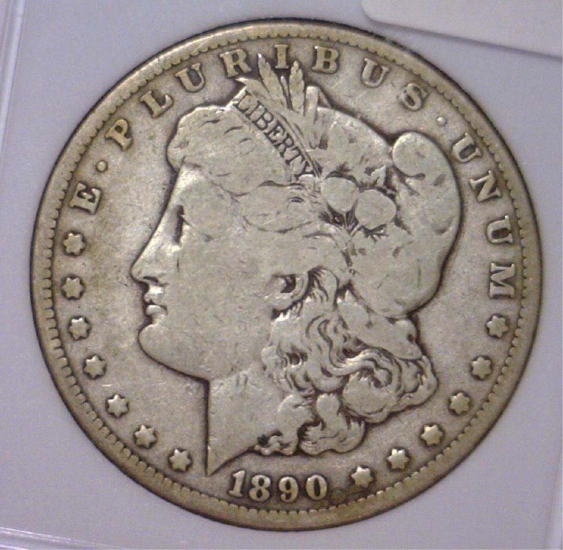 1890-CC Morgan Silver Dollar Very Good VG