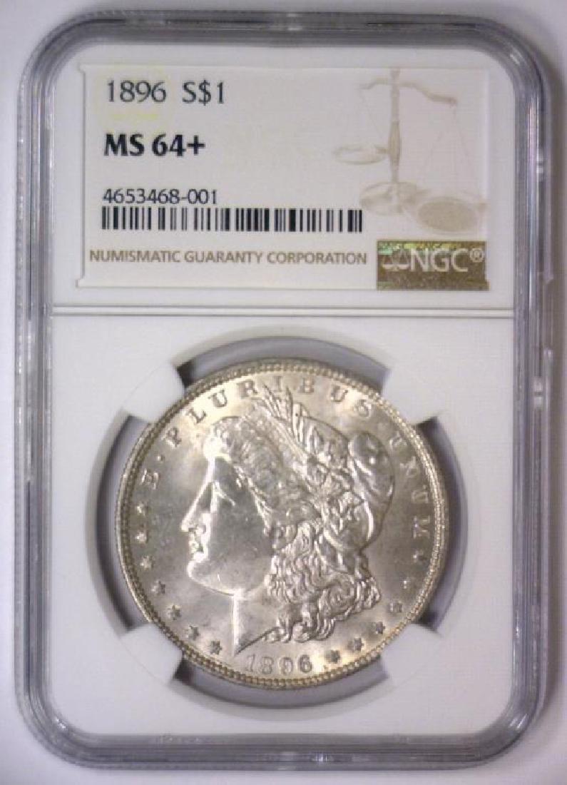 1896 Morgan Silver Dollar NGC MS64+ - 2