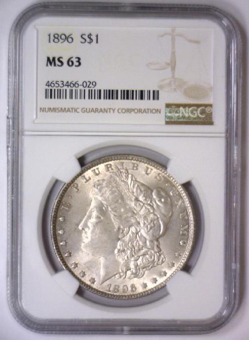 Investor Lot of 5 1896 Morgan Silver $1 NGC MS63 - 10